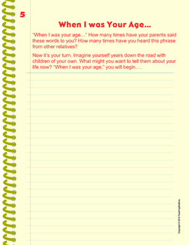 Writing Journal with 30 Unique prompts. Beautifully designed printable journal!