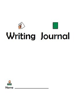 Writing Journal with Visuals- Adapted