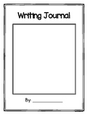 Writing Journal with writing response prompts, writing che