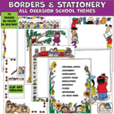 Borders SCHOOL BORDERS All Occasion (Karen's Kids Clip Art)
