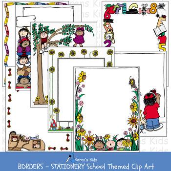 Writing Journaling  BORDER PAPERS General Borders & Clip Art