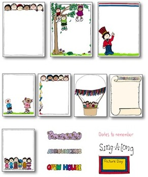 Writing Journaling  BORDER PAPERS School Events