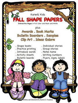 Writing Journaling SHAPE PAPERS for FALL & Clip Art