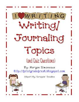 Writing/ Journaling Topics