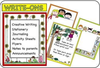 Writing Journaling WRITE-ONS Interactive