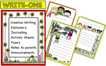 Writing Journaling WRITE-ONS With Lines