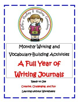 Writing Journals - A Full Year of Monthly Writing and Vocabulary Development