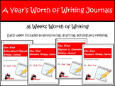 Writing Journals - A Year Long Bundle of Writing for Specific Genres