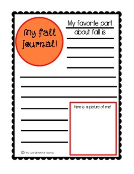 Writing Journals By The Season!