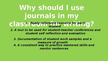 Writing Journals Overview Presentation