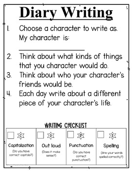 Writing Journals | Writing Skills | Writing Skills Diary of a... Freebie!
