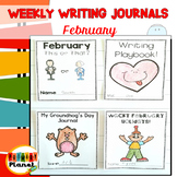 Writing Prompt Journals | Writing Paper for February | Wri