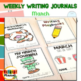 Writing Prompt Journals | Writing Paper for March | Writin
