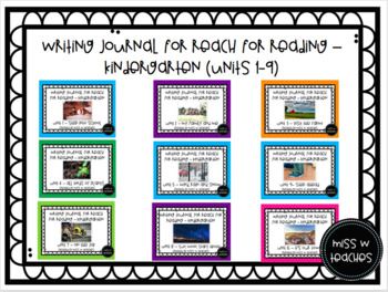 Writing Journals for Reach for Reading - Kindergarten (Units 1-9)