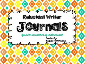 Writing Journals for Reluctant/Early Writers