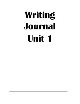 Writing Journals to Support Journeys 3rd Grade