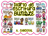 Writing Journals with Sentence Frames BUNDLE Diarios con marcos