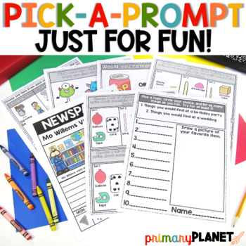 Just for Fun Writing Prompts for Writer's Workshop or Writing Centers