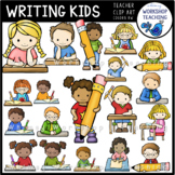 Writing Kids Clip Art (22 graphics) Whimsy Workshop Teaching