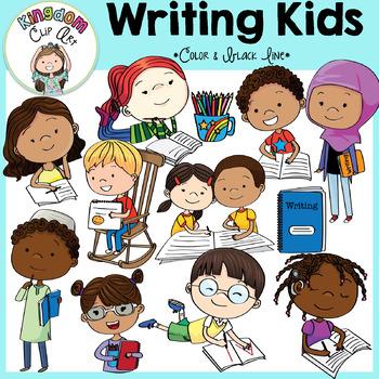 Writing Kids Clip Art