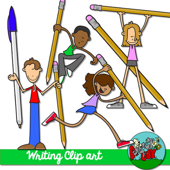 Writing Kids Clip art Set 2