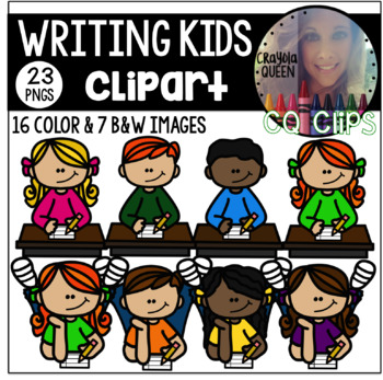 Writing Kids Clipart