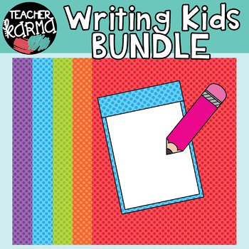 Writing Kids * Pencil Clipart BUNDLE * Seller's KIT