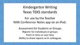 Writing - Kindergarten Assessment For Texas TEKS