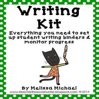 Writing Kit ~ Everything you need 4 writing notebooks & monitoring progress