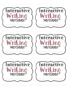 Writing Labels for Interactive Notebooks