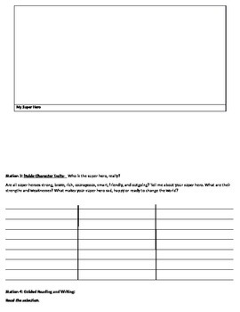 Writing Labs/ Stations for Middle School