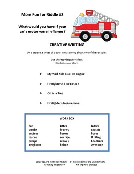 Writing and Riddles | Early Finishers |FUN  Writing Prompts | NO PREP | Gr 3,4,5