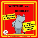 Writing and Riddles | Early Finishers FUN  Writing Prompts . . NO PREP  Gr 3,4,5
