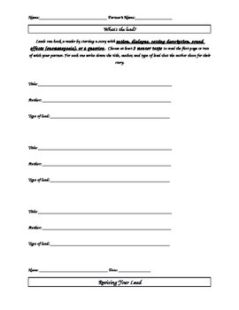 Writing Leads Activity