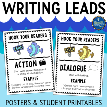 Writing Leads Posters Anchor Charts By The Brighter Rewriter TpT
