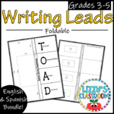 Writing Leads Foldable! -English and Spanish!