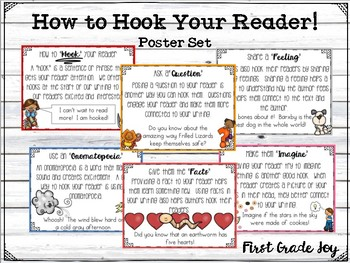 Writing Leads (Hooks) Poster