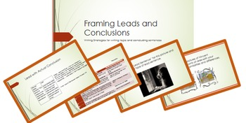 Writing Leads and Conclusions; BUNDLE; printables; Powerpoint; middle school