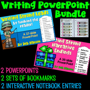 Writing Leads and Endings Bundle: Two PowerPoints