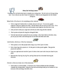 Writing Learning Menu Assessment/Activities