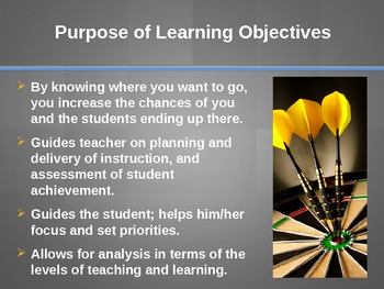 Writing Learning Objectives in Science