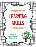 Learning Skills - Primary Grades Report Card Helper - FREEBIE