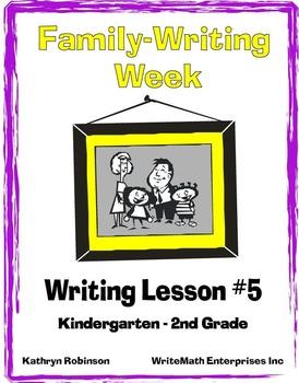 Writing Lesson #5: Family Writing Week {Full Week of Writi