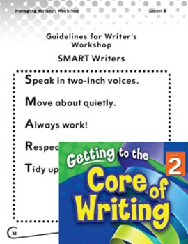 Writing Lesson Level 2--Guidelines for Writer's Workshop (