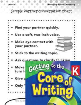 Writing Lesson Level K--Turn and Talk (eLesson)