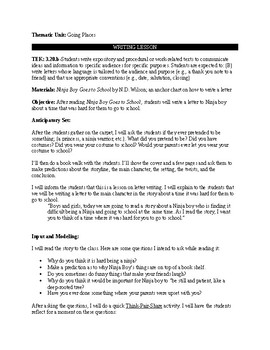 Writing Lesson Plan