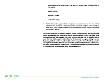 Writing Lesson Plan- Revision-3rd Grade