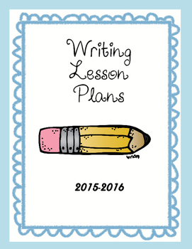 Writing Lesson Plans Cover