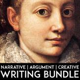 Writing Bundle: Argument Writing, Narrative Writing, Prompts, Lessons, Rubrics