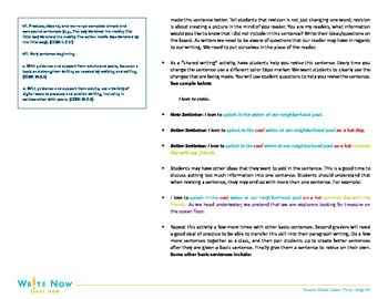 Writing Lesson-Revision-Expanding Sentences-2nd Grade